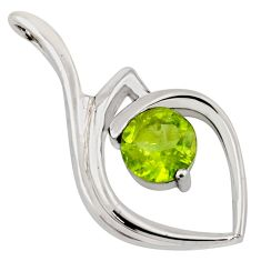 925 sterling silver 2.78cts natural green peridot pendant jewelry r7172