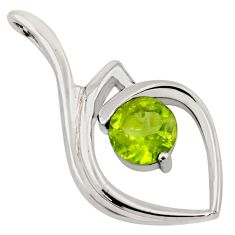 2.95cts natural green peridot 925 sterling silver pendant jewelry r7174