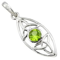 925 sterling silver 1.36cts natural green peridot pendant jewelry r7238