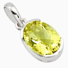 6.19cts natural lemon topaz 925 sterling silver pendant jewelry r7276