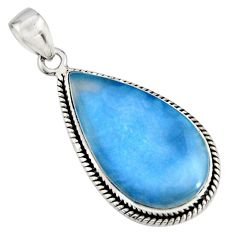 16.20cts natural blue owyhee opal 925 sterling silver pendant jewelry r7981