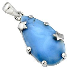 18.55cts natural blue owyhee opal 925 sterling silver star pendant jewelry r8000