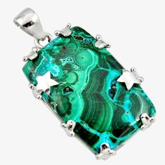 925 silver 33.26cts natural green malachite in chrysocolla star pendant r8232