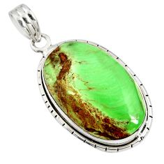 16.70cts natural green variscite 925 sterling silver pendant jewelry r8283