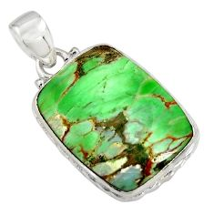 15.65cts natural green variscite 925 sterling silver pendant jewelry r8293