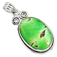 18.15cts natural green variscite 925 sterling silver pendant jewelry r8296