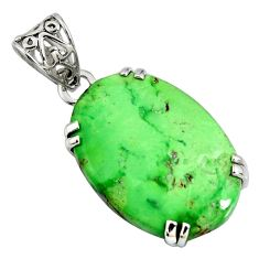 19.55cts natural green variscite 925 sterling silver pendant jewelry r8300