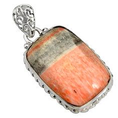 19.23cts natural orange celestobarite 925 sterling silver pendant jewelry r8483