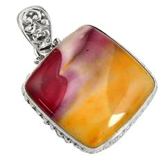 33.29cts natural brown mookaite 925 sterling silver pendant jewelry r8551