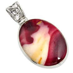 29.34cts natural brown mookaite 925 sterling silver pendant jewelry r8565