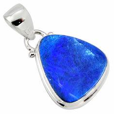 925 silver 6.83cts natural blue doublet opal australian fancy pendant r9724