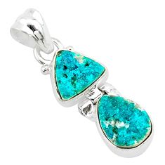 8.51cts natural dioptase 925 sterling silver pendant jewelry t5804