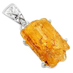 12.71cts natural golden imperial topaz 925 sterling silver pendant jewelry t6445