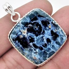 ATTRACTIVE BLACK PIETERSITE (AFRICAN) 925 STERLING SILVER PENDANT JEWELRY H44023
