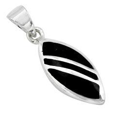 3.48gms black onyx enamel 925 sterling silver pendant jewelry c3087
