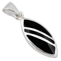 3.48gms black onyx enamel 925 sterling silver pendant jewelry c4447