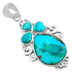 8.73cts blue arizona mohave turquoise 925 sterling silver pendant jewelry c4826