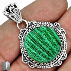 13.12cts CHARMING GREEN CARDITA SHELL 925 STERLING SILVER PENDANT JEWELRY G31689
