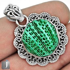 EXOTIC DELUXE GREEN CARDITA SHELL 925 STERLING SILVER PENDANT JEWELRY G31690