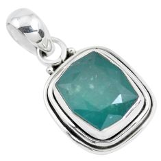 5.38cts faceted natural grandidirite 925 silver solitaire pendant p41503