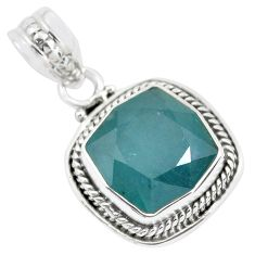 6.30cts faceted natural grandidirite 925 silver solitaire pendant p41507