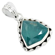 8.31cts faceted natural grandidirite 925 silver solitaire pendant p41509