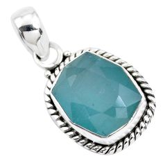7.15cts faceted natural grandidirite 925 silver solitaire pendant p41514