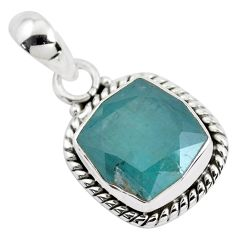 5.10cts faceted natural grandidirite 925 silver solitaire pendant p41515