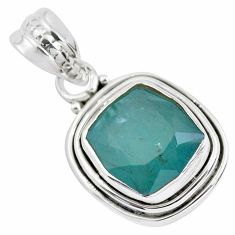 5.11cts faceted natural grandidirite 925 silver solitaire pendant p41516