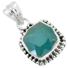 5.10cts faceted natural grandidirite 925 silver solitaire pendant p41518