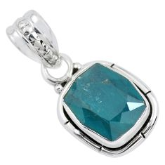 5.06cts faceted natural grandidirite 925 silver solitaire pendant p41519