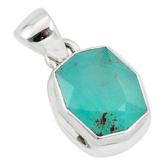 5.82cts faceted natural green gem silica 925 sterling silver pendant p54391