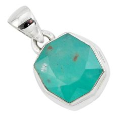 7.33cts faceted natural green gem silica 925 sterling silver pendant p54395