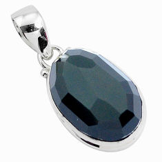 Faceted natural rainbow obsidian eye 925 sterling silver pendant jewelry p47197