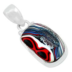 9.72cts fordite detroit agate 925 sterling silver pendant jewelry p69109