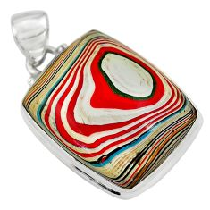 14.68cts fordite detroit agate 925 sterling silver pendant jewelry p79182