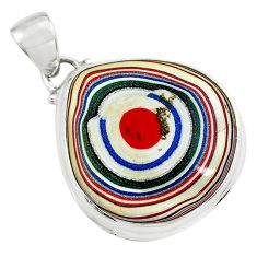 12.10cts fordite detroit agate 925 sterling silver pendant jewelry p79194