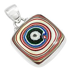 10.79cts fordite detroit agate 925 sterling silver pendant jewelry p79215