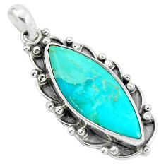 15.16cts green arizona mohave turquoise 925 sterling silver pendant p34097