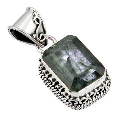 6.63cts green natural rutile 925 sterling silver pendant jewelry p90352