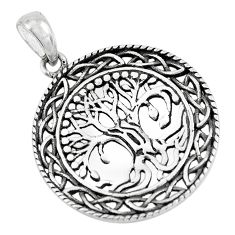 4.89gms indonesian bali style solid 925 silver tree of life pendant c3607