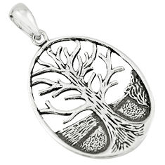 3.48gms indonesian bali style solid 925 silver tree of life pendant c3662