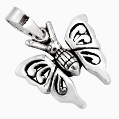2.69gms indonesian bali style solid 925 sterling silver butterfly pendant c5261