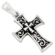 3.48gms indonesian bali style solid 925 sterling silver holy cross pendant c4441