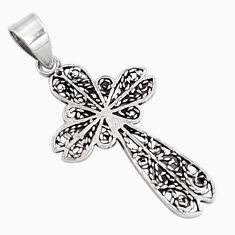 3.26gms indonesian bali style solid 925 sterling silver holy cross pendant c5287