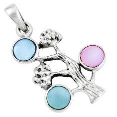 925 silver 2.48gms blister pearl enamel tree of life pendant a93293 c14540