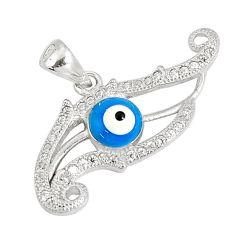 925 sterling silver 2.72cts blue evil eye talismans topaz pendant jewelry c18972