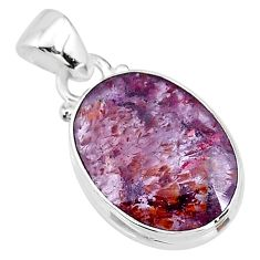 925 silver 9.18cts faceted cacoxenite super seven (melody stone) pendant t13049