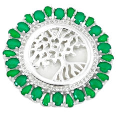 925 silver green emerald quartz topaz tree of life pendant jewelry c22827