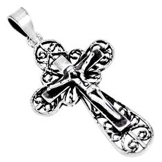 925 silver 4.02gms indonesian bali style solid holy cross pendant jewelry c20373
